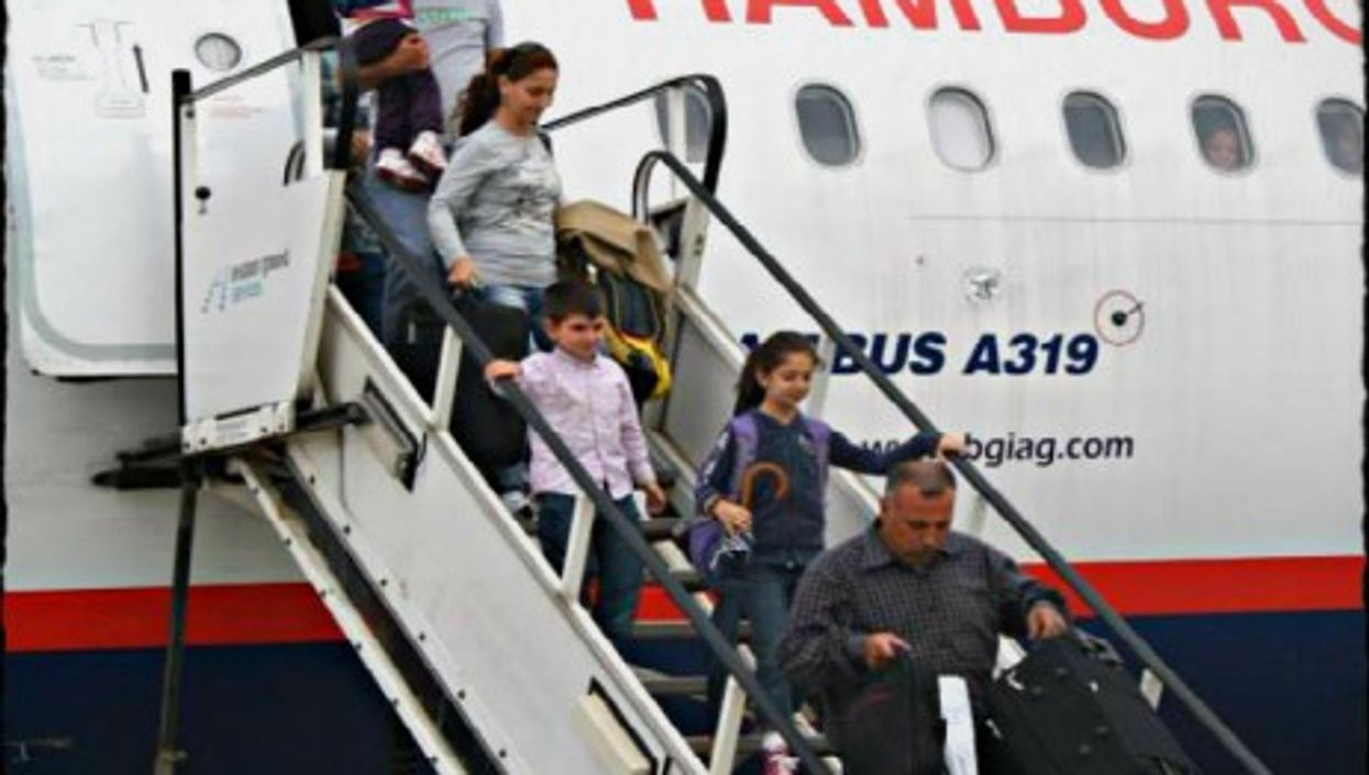 Syrians landing in Germany