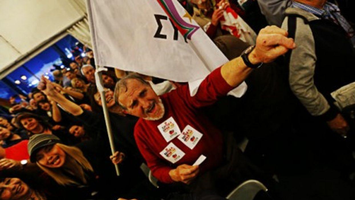 Syriza celebrations in Athens