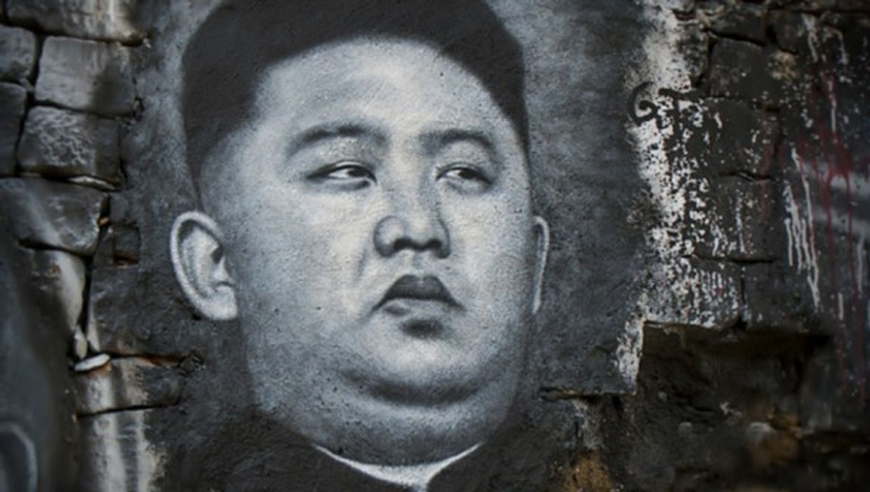 Tag of North Korean leader Kim Jong-un