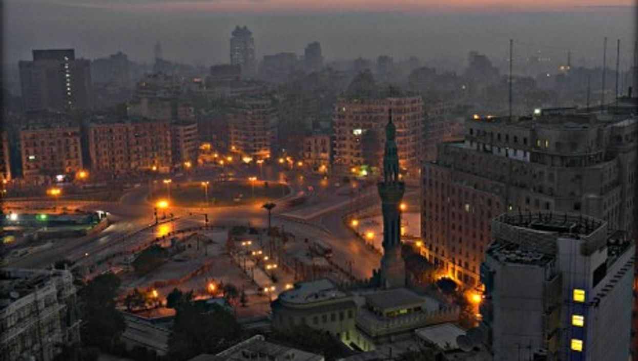 Tahrir Square stands in the center of the Egyptian capital
