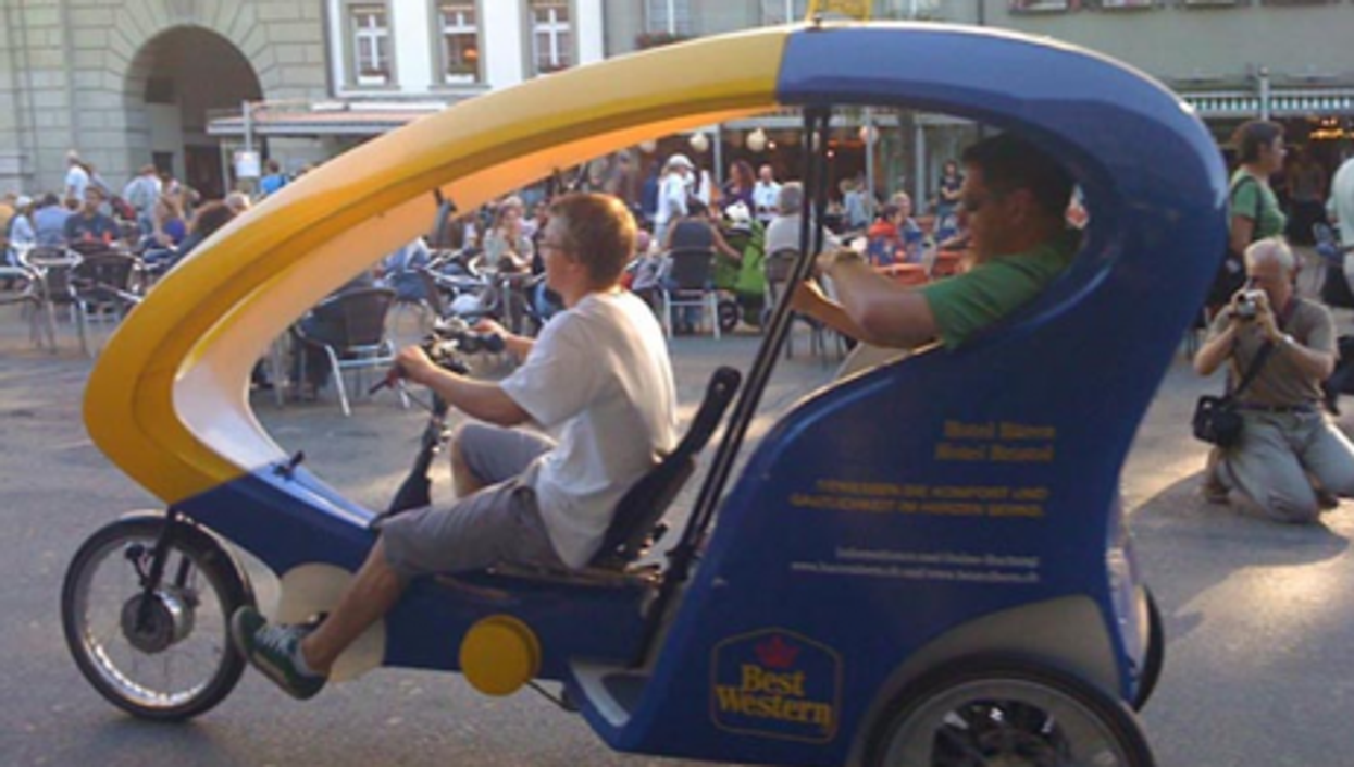 Taking a spin in the new urban transportation mode in Bern