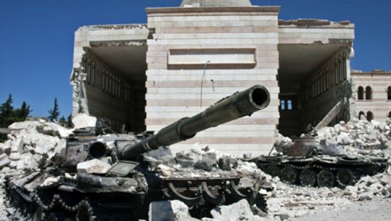 Tanks in Azaz, Syria