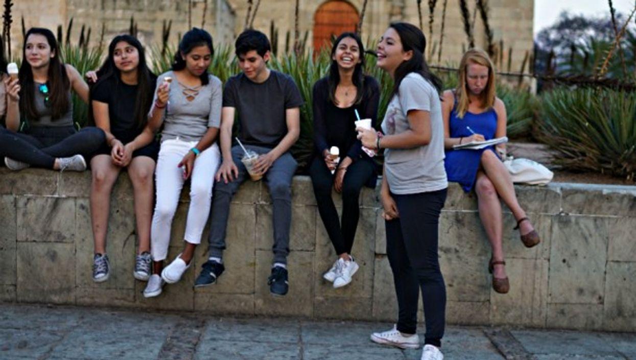 Teens in Oaxaca City, Mexico