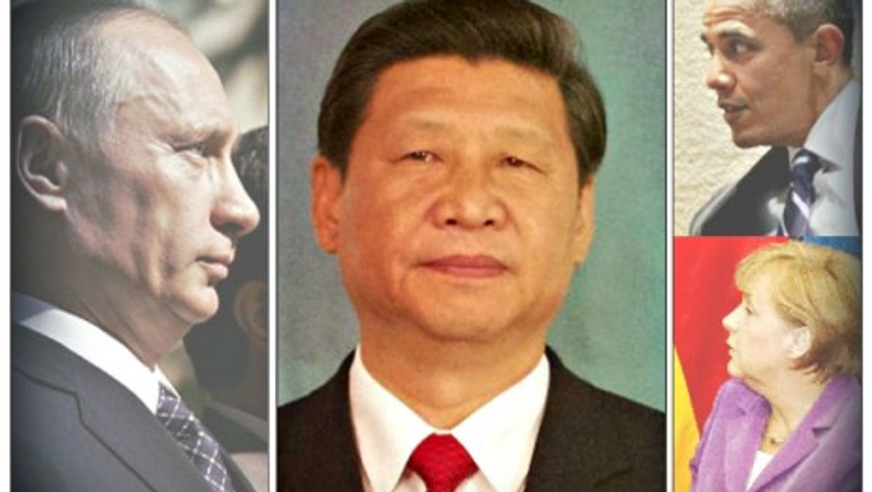 """Telephone diplomacy"" between Putin, Xi Jinping, Barack Obama and Angela Merkel"