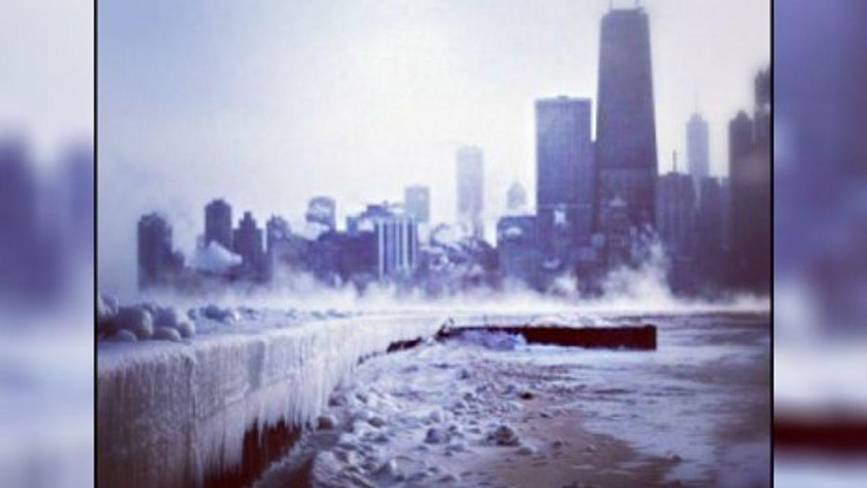 "Temperatures are sticking far below zero Tuesday in Chicago, aka ""Chiberia"""