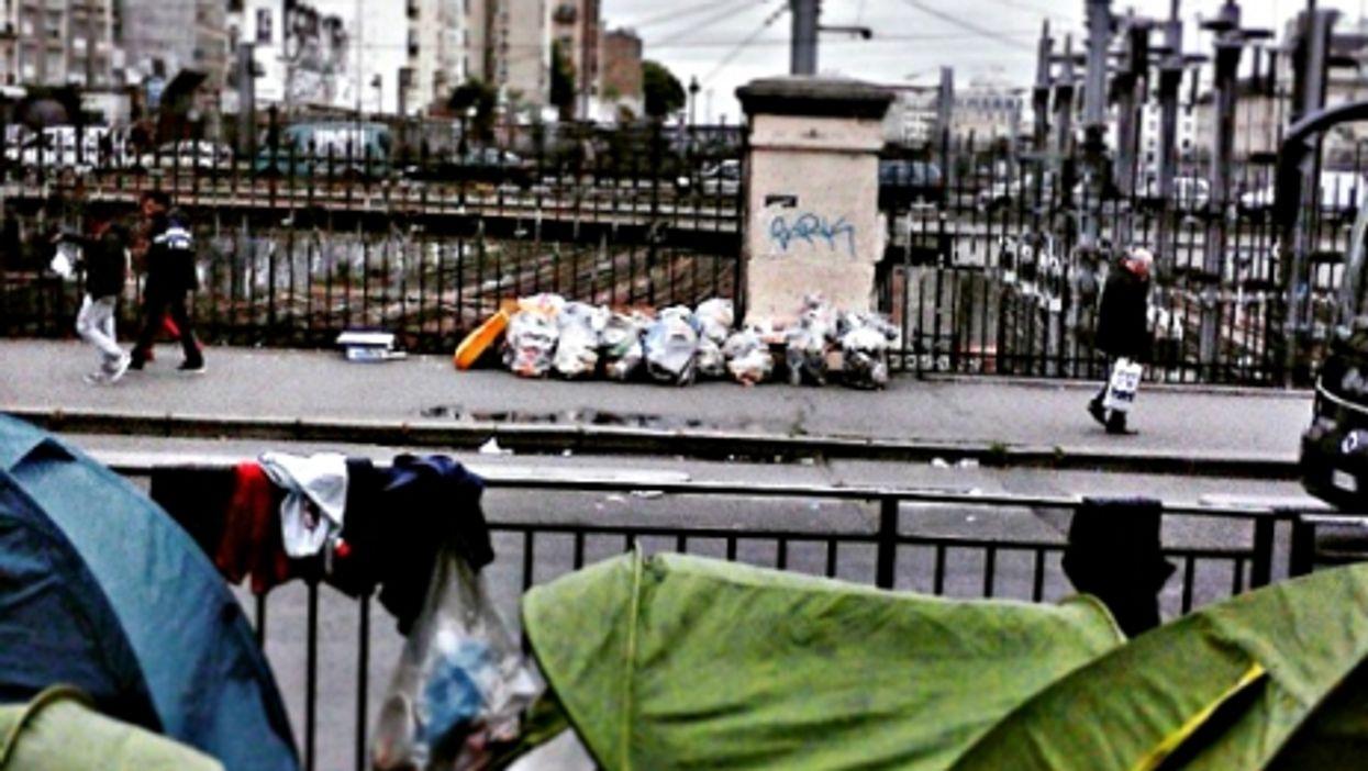 Tent encampment at La Chapelle