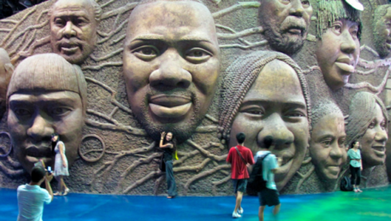 The Africa pavillion at the Shanghai Expo