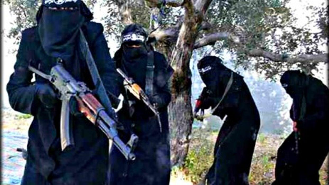 The all-female al-Khansaa's brigade in Syria.
