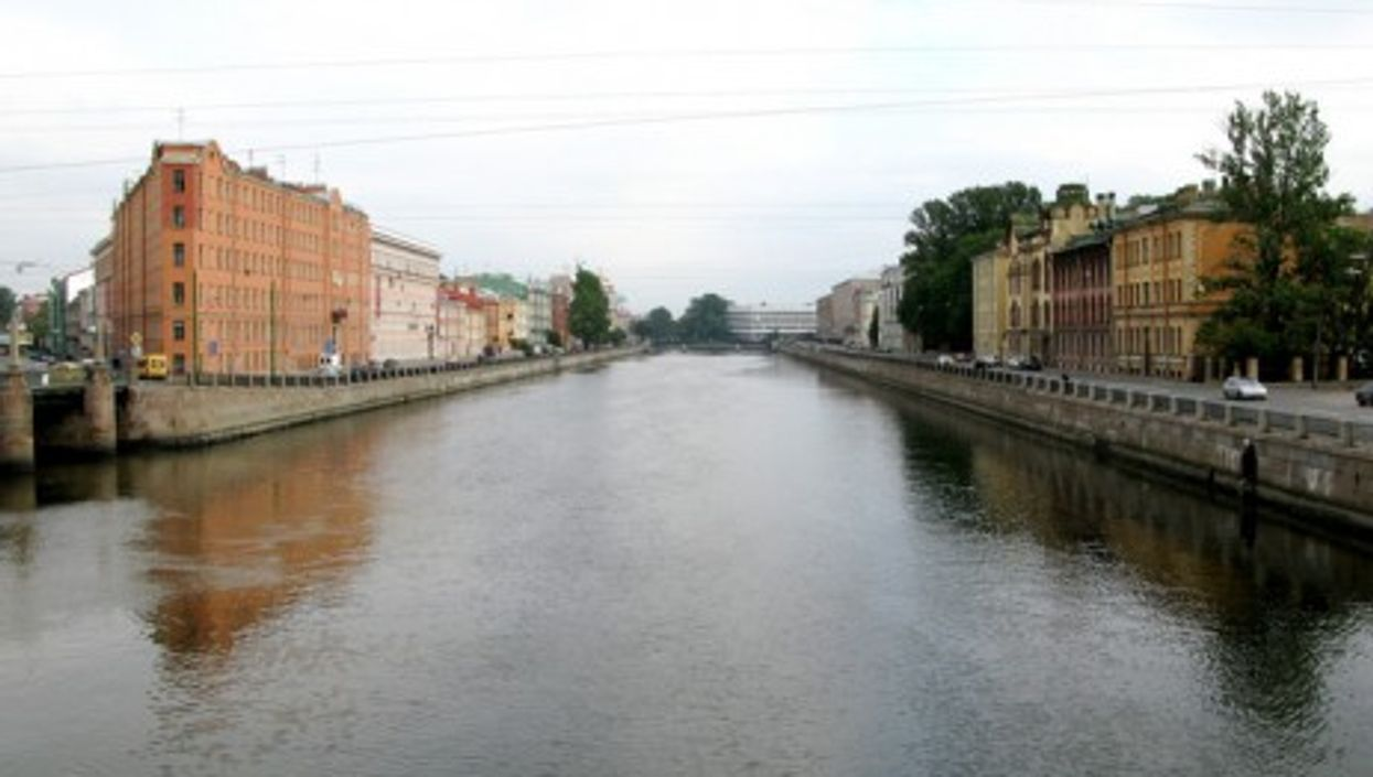 The canals of St. Petersburg, Russia
