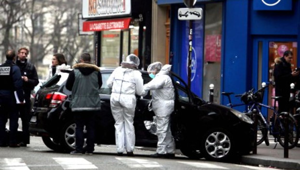The car used by the Charlie Hebdo killers to escape is discovered by police on Jan. 7