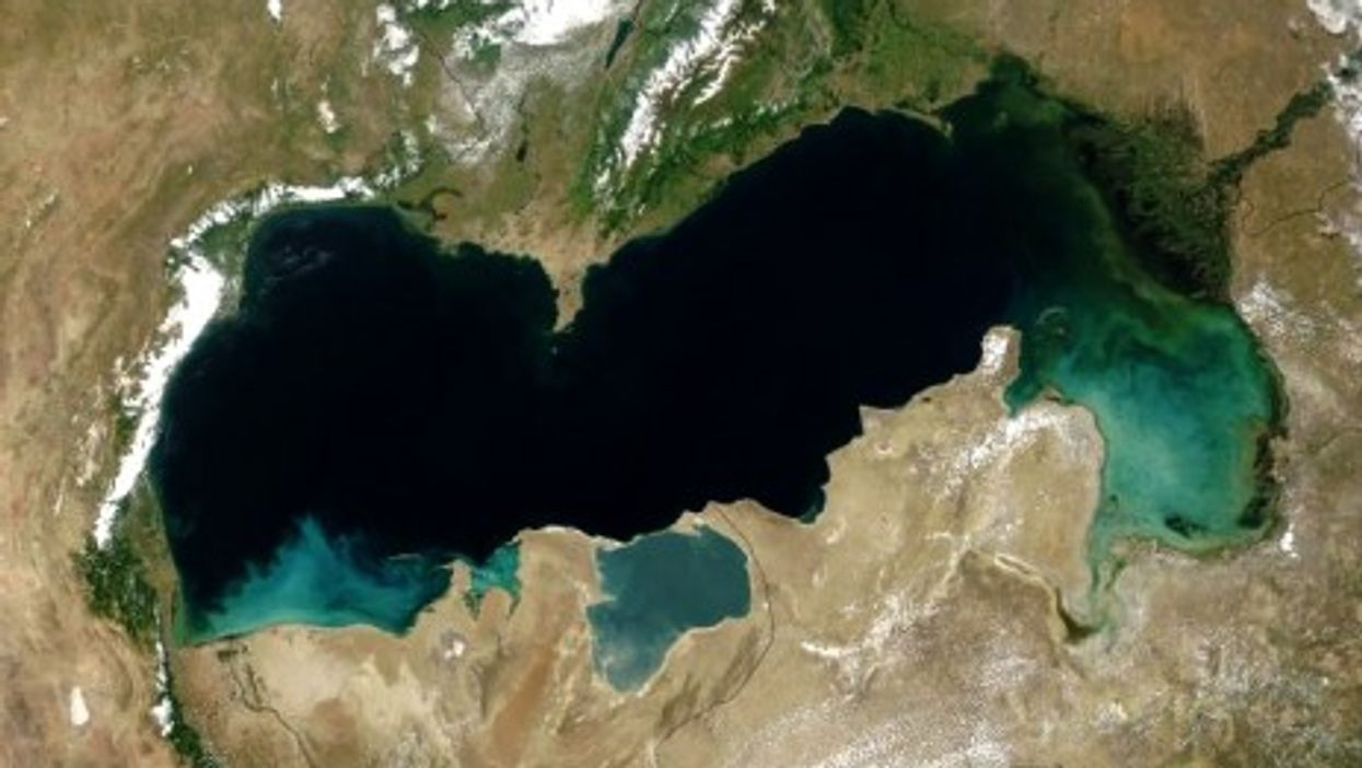 The Caspian Sea as seen from space