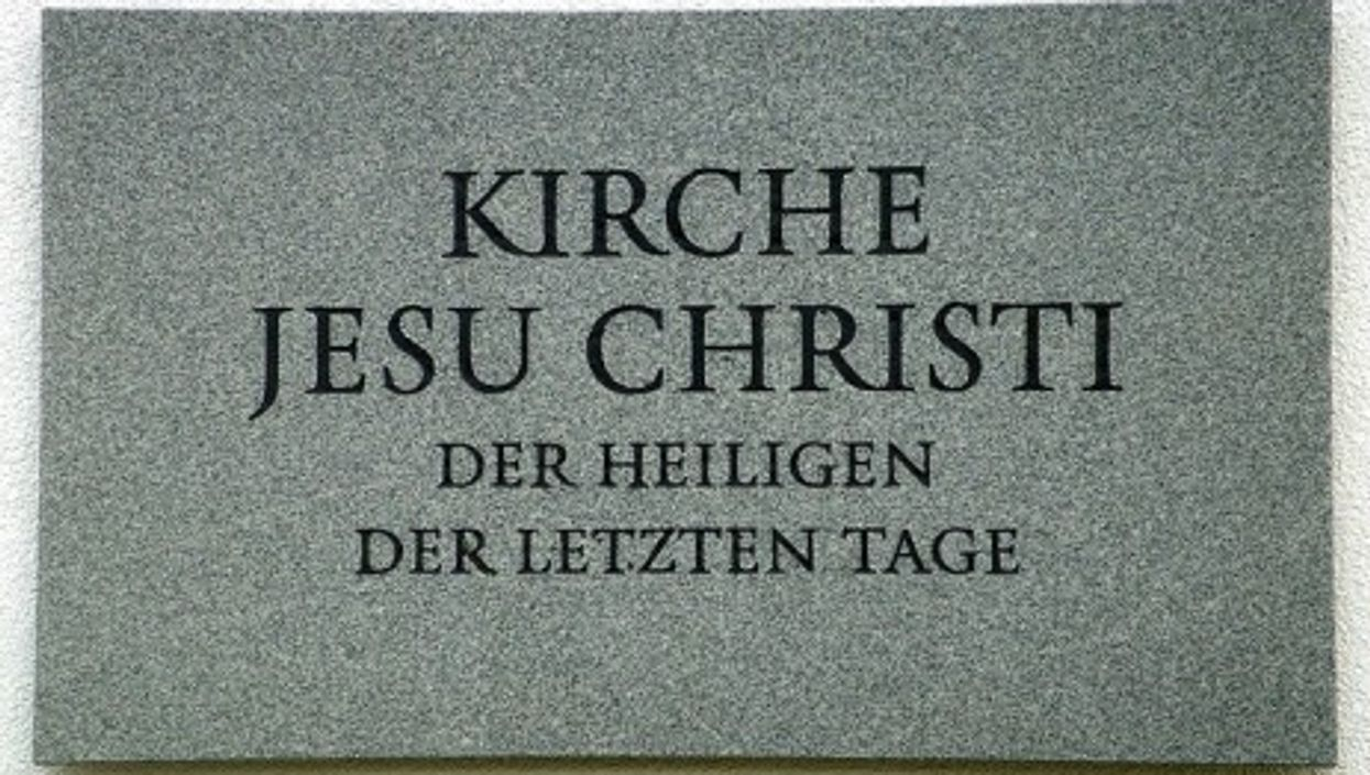 The Church of Jesus Christ of Latter-day Saints plaque in German