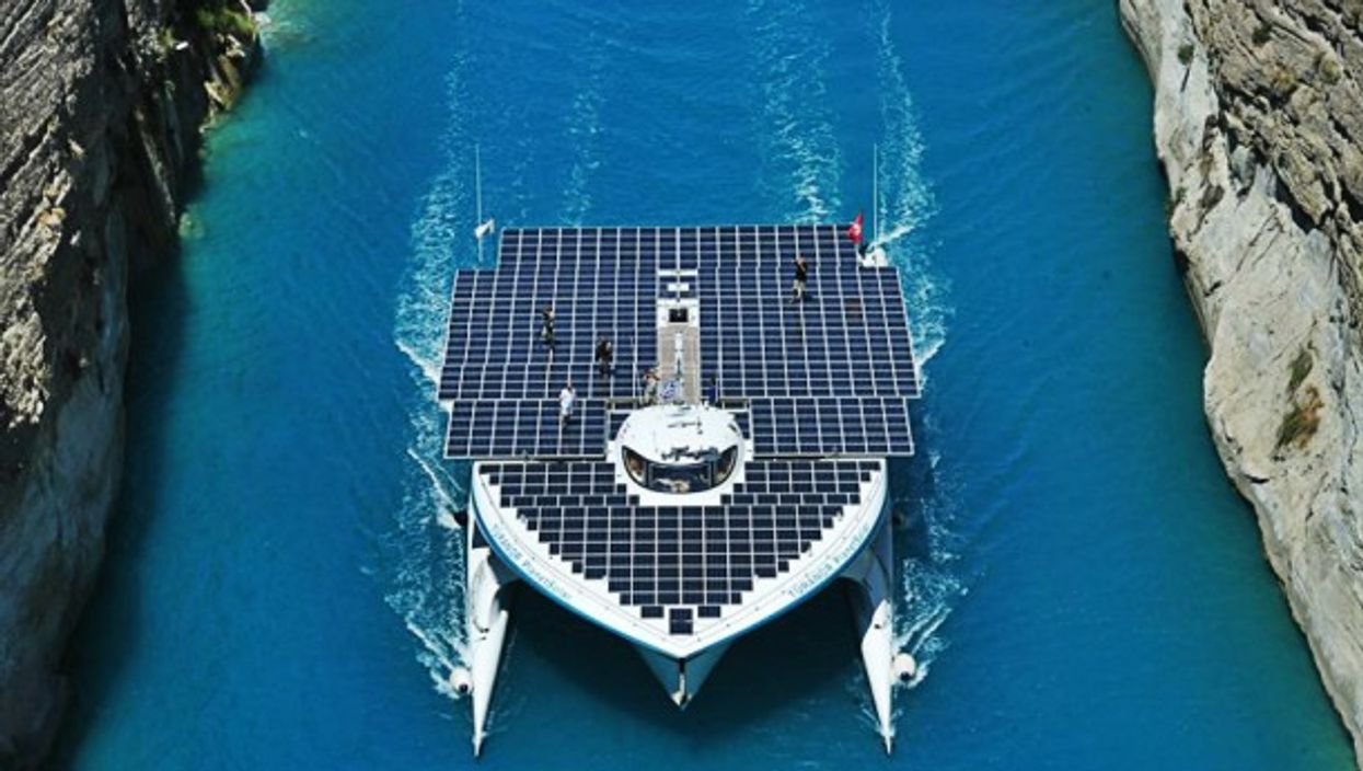 The electric vessel will be departing from the French city of Lorient on April 9