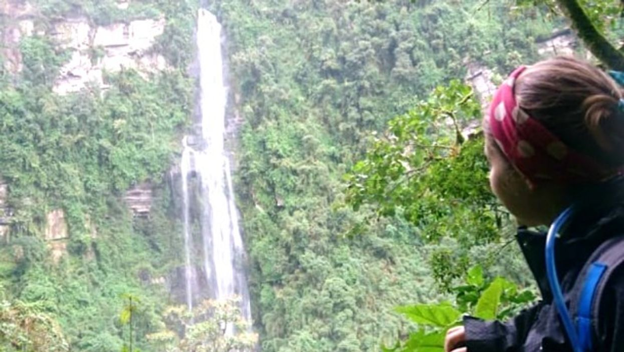 The end of a hike to La Chorrera Waterfall