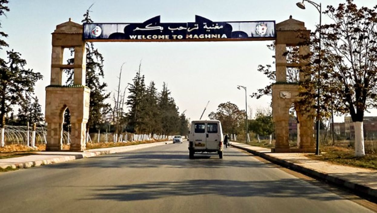 The entrance to Maghnia, an Algerian city on the border with Morocco.