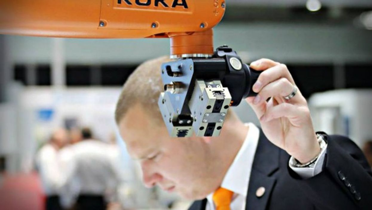 The EU is probing the Chinese purchase of German robotics firm Kuka.