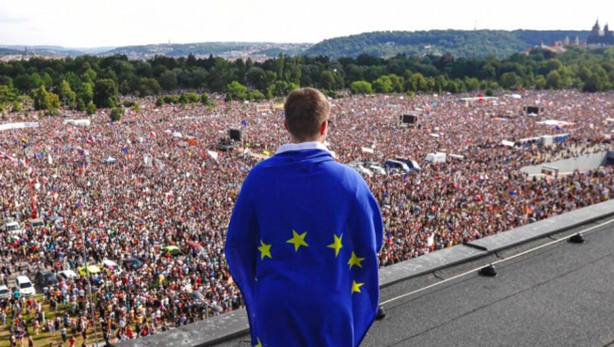 'The European Union is now a state...' A pro-EU rally last year in Prague