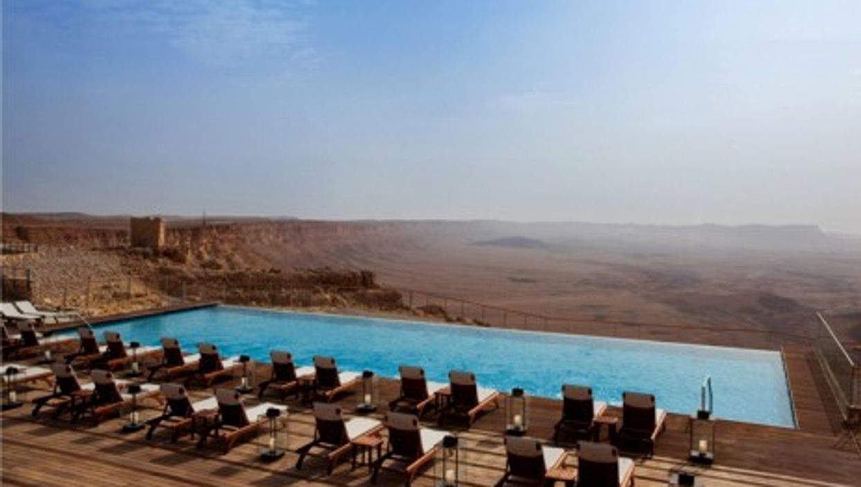 The five-star Beresheet hotel offers a unique view on a meteor crater in the Negev desert (Beresheet/Isrotel)