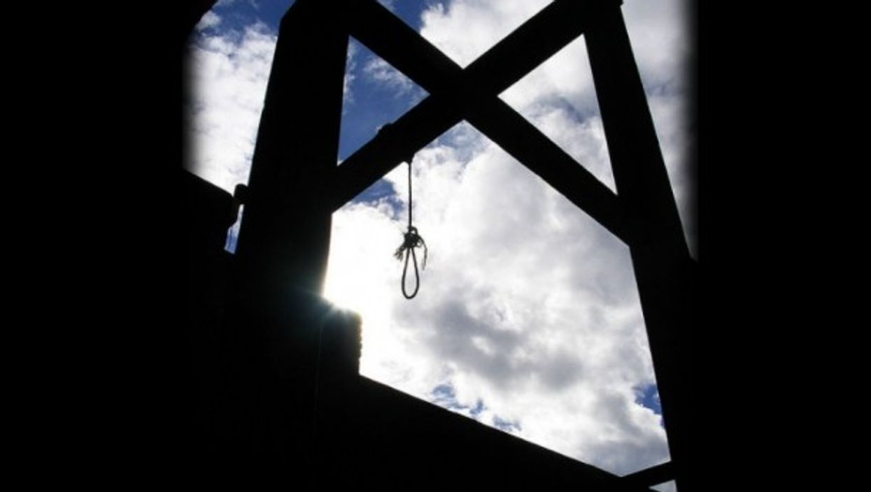 The gallows loom