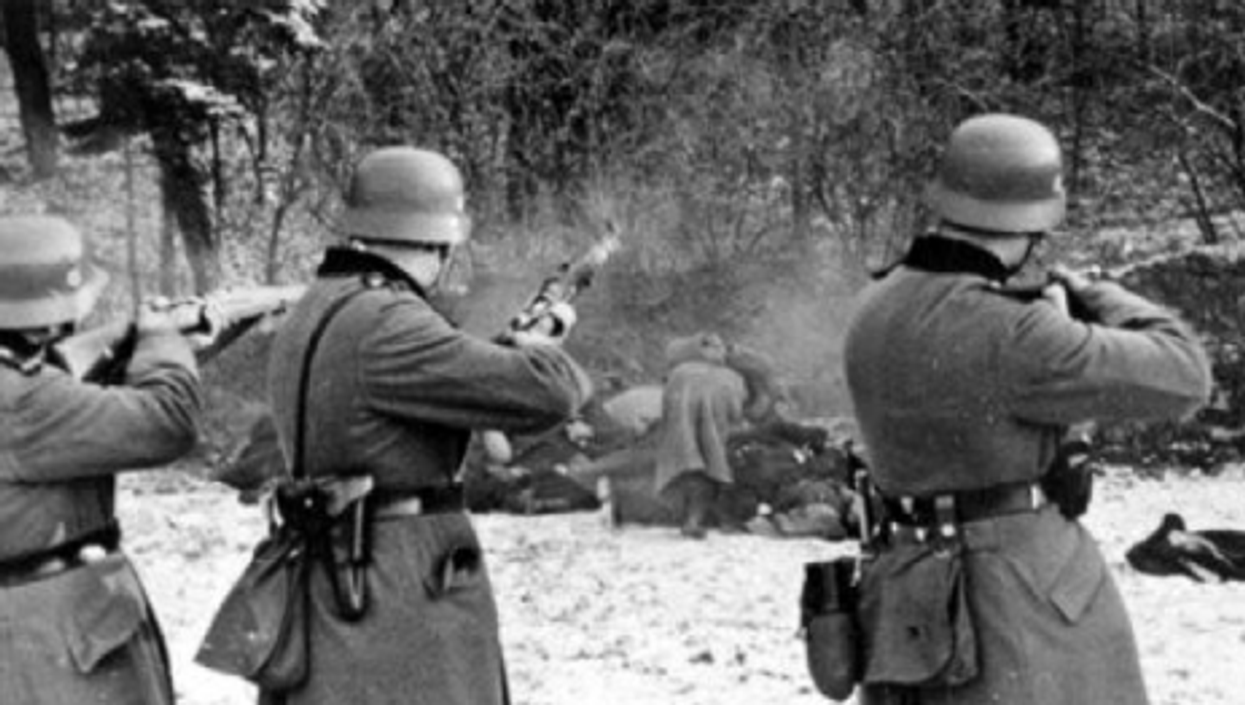 The German execution of 51 Polish hostages in 1941 in retaliation for an attack on a Nazi police station (wikipedia)