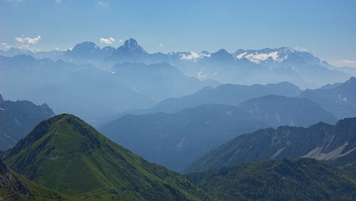 The Giulie Alps mountain range where the tragedy occurred (chripell)
