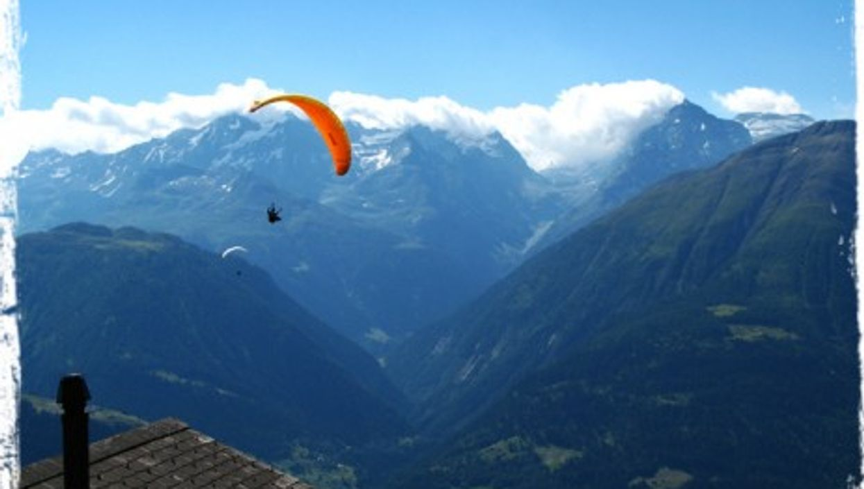 """The good kind of """"golden parachute"""" in the Swiss Alps"""