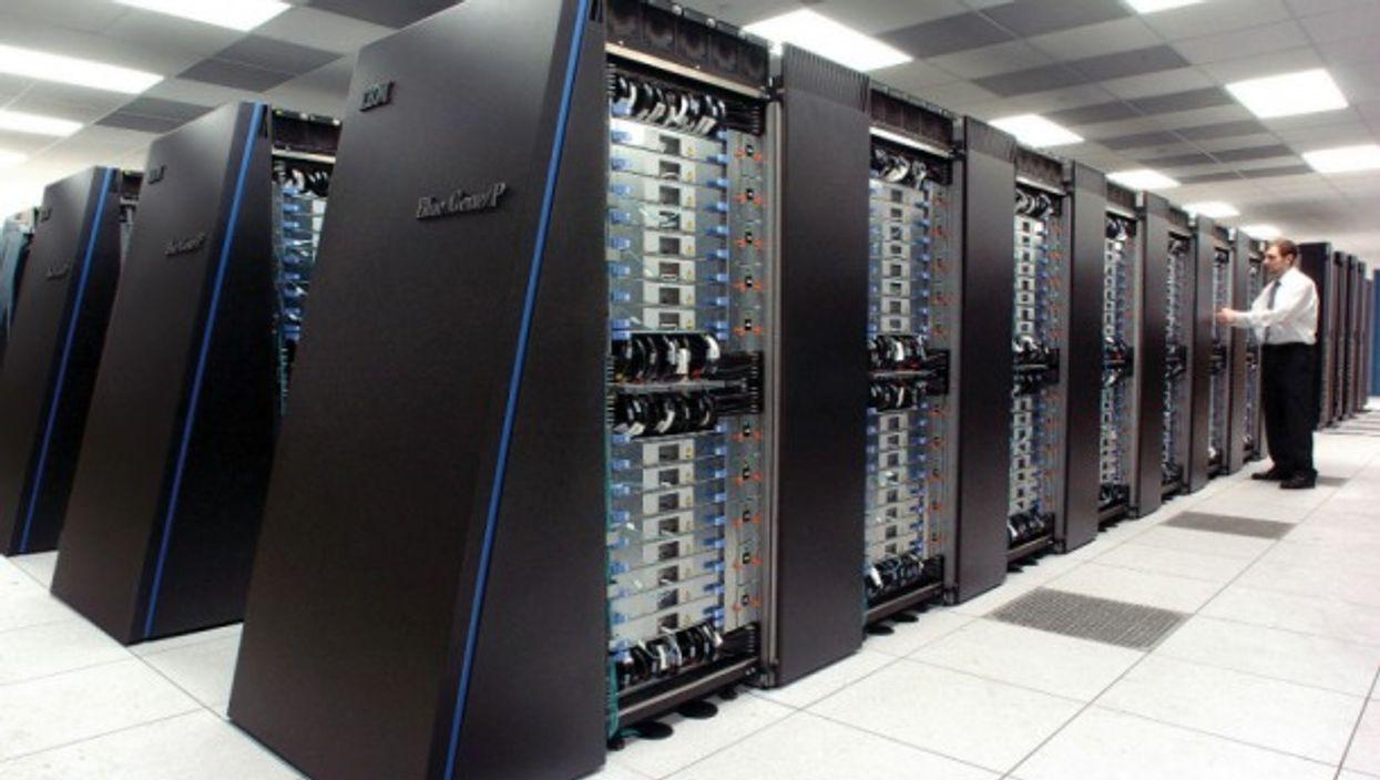 The IBM Blue Gene/P supercomputer in Lemont, Illinois, USA.
