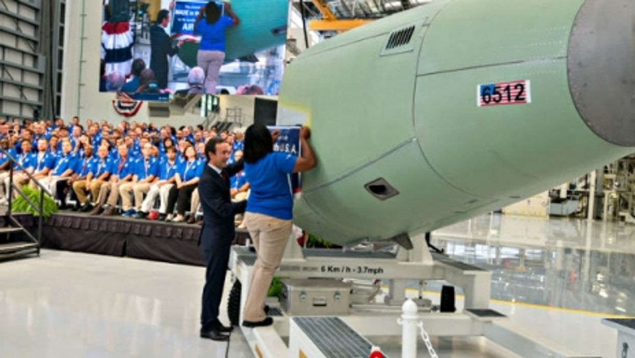 The inauguration of Airbus plant in Mobile on Sep. 14.