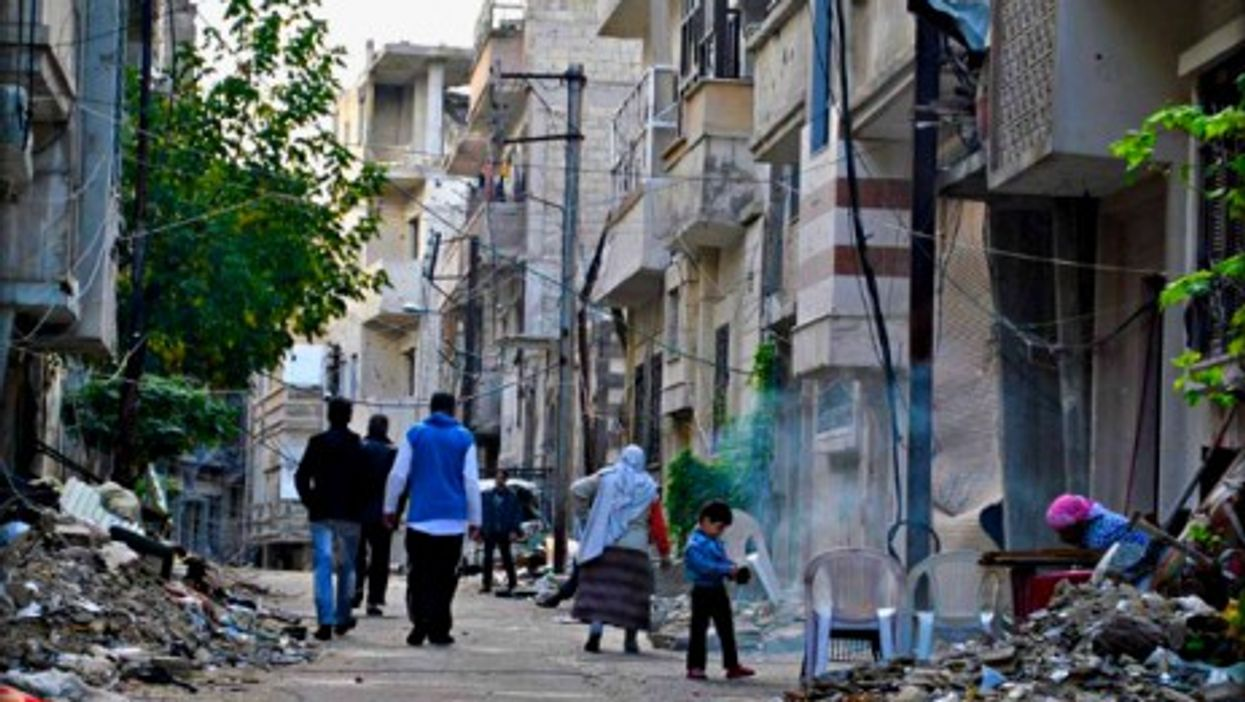 The Jourit Al-Shayah neighborhood in Homs
