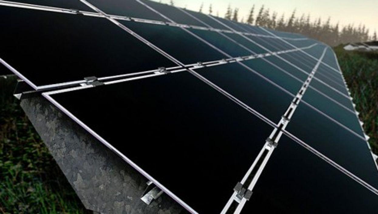 The Kollbach solar power plant in Bavaria, Germany