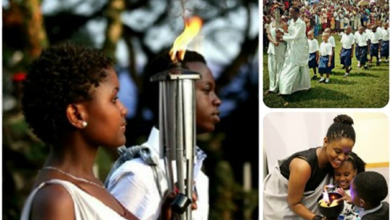 The Kwibuka flame, commemorating the genocide against the Tutsi in Rwanda