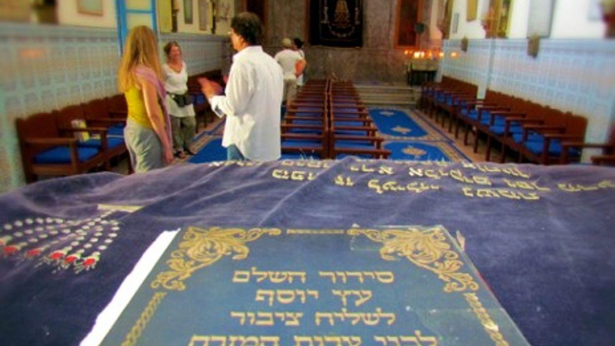 The Lazama Jewish Synagogue in Marrakesh