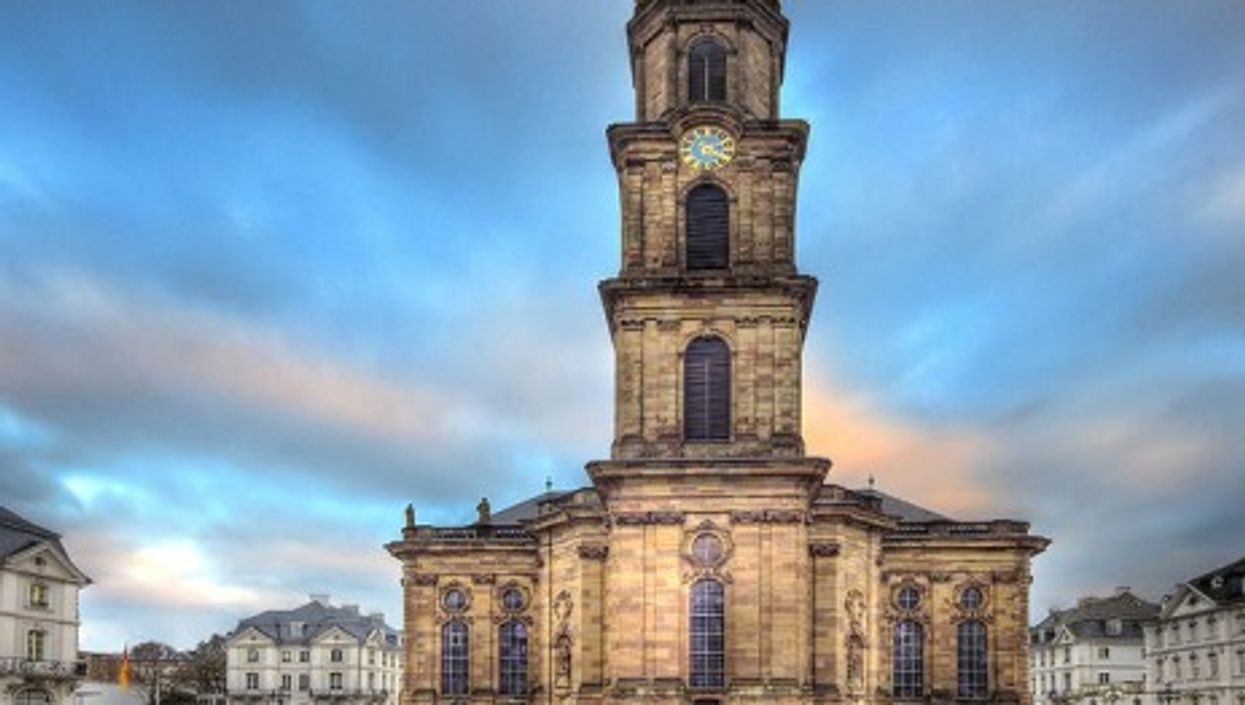 The Ludwigskirche church in Old Saarbrucken, Germany