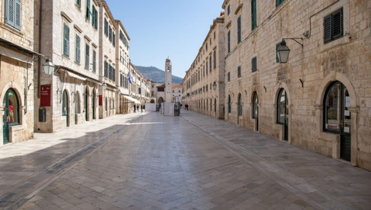 The main street of the Old Town of Dubrovnik in Croatia