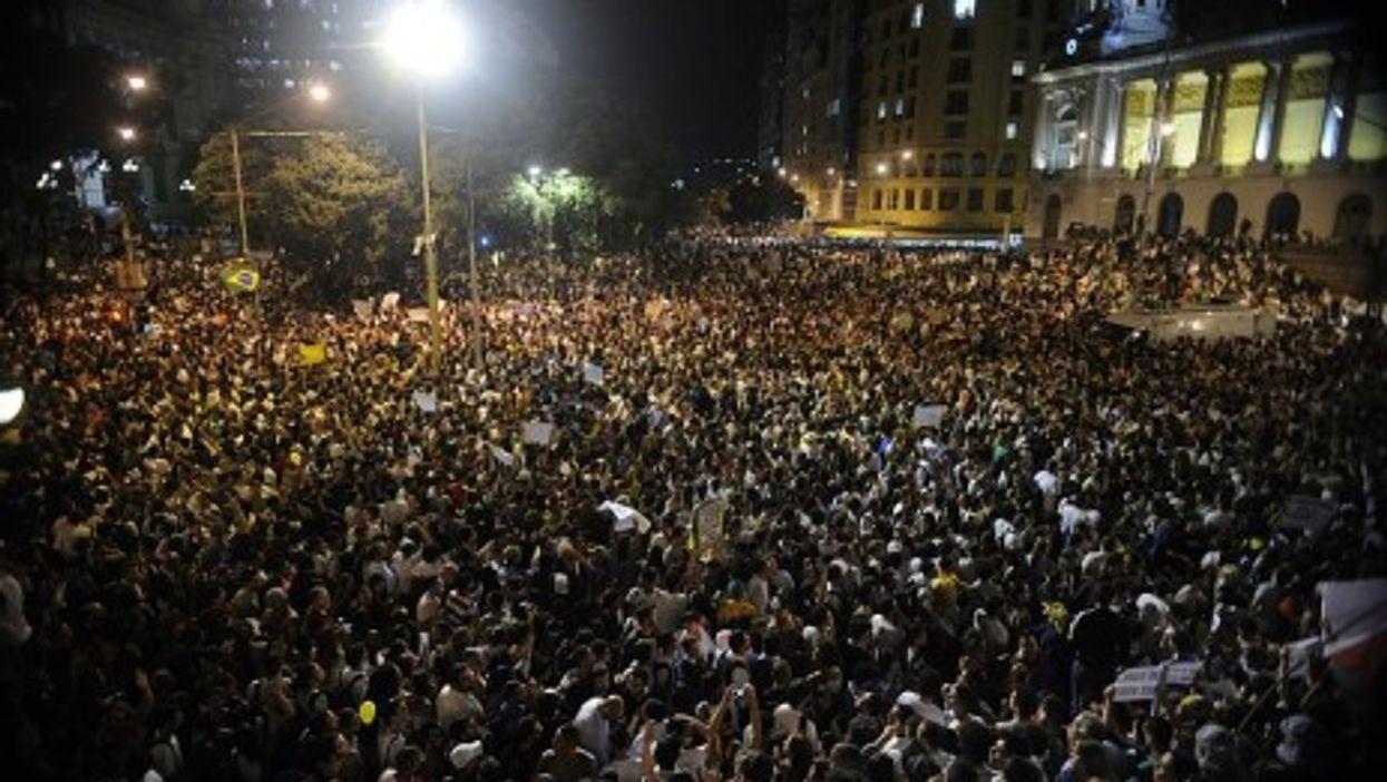 The masses gather in Rio