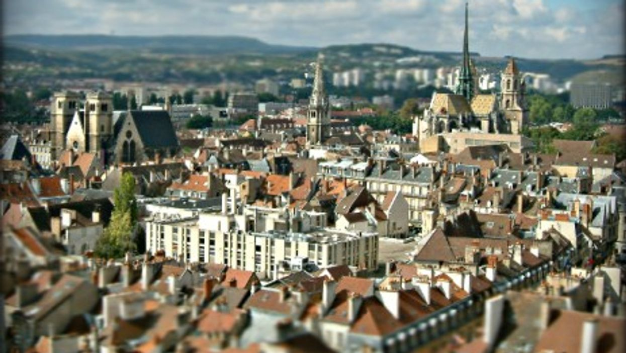 The medieval center of Dijon in eastern France
