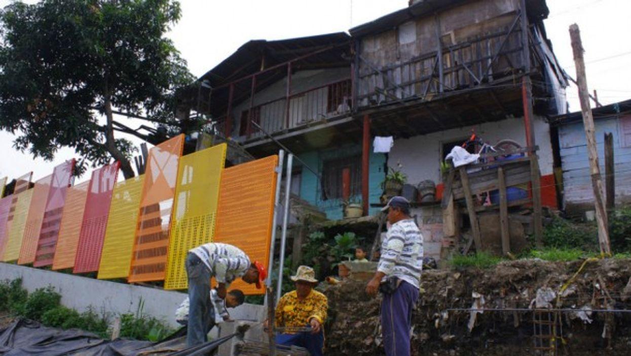 The Moravia neighborhood in Medellin, Colombia