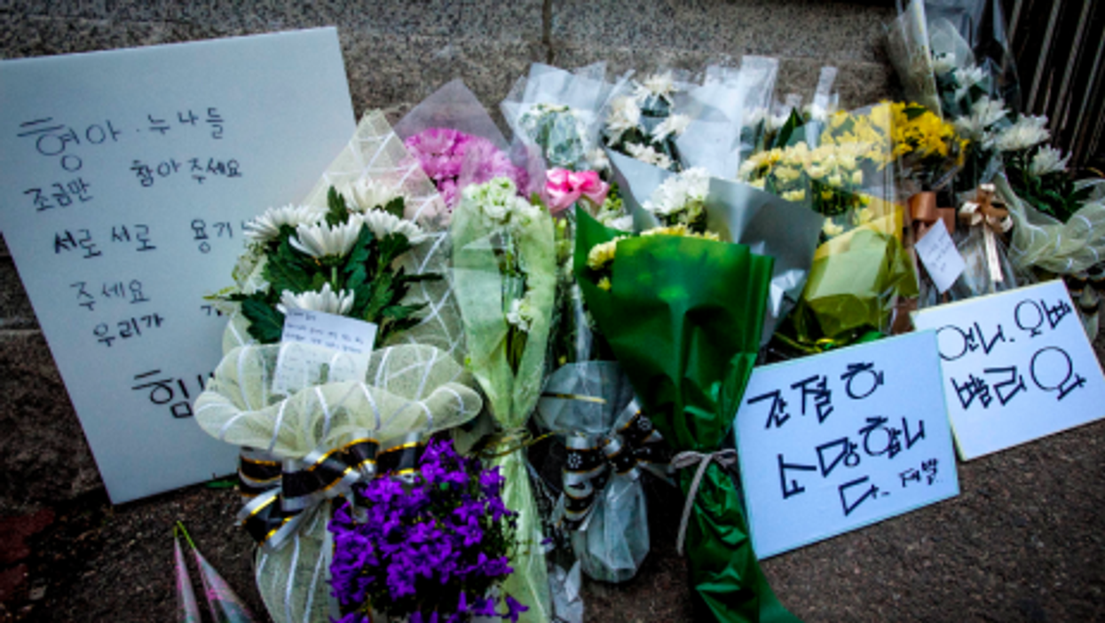 The mourning is everywhere in Ansan
