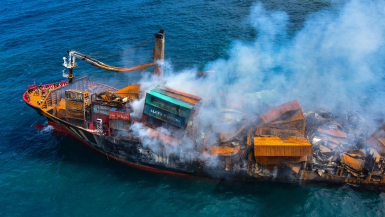 The MV X-Press Pearl cargo ship, which has been burning for two weeks off the coast of Sri Lanka, has started to sink, heightening fears of an oil and chemical spill