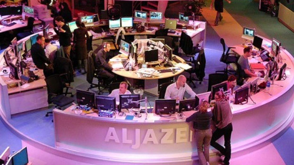 The nerve center at Al Jazeera's headquarters in Doha, Qatar
