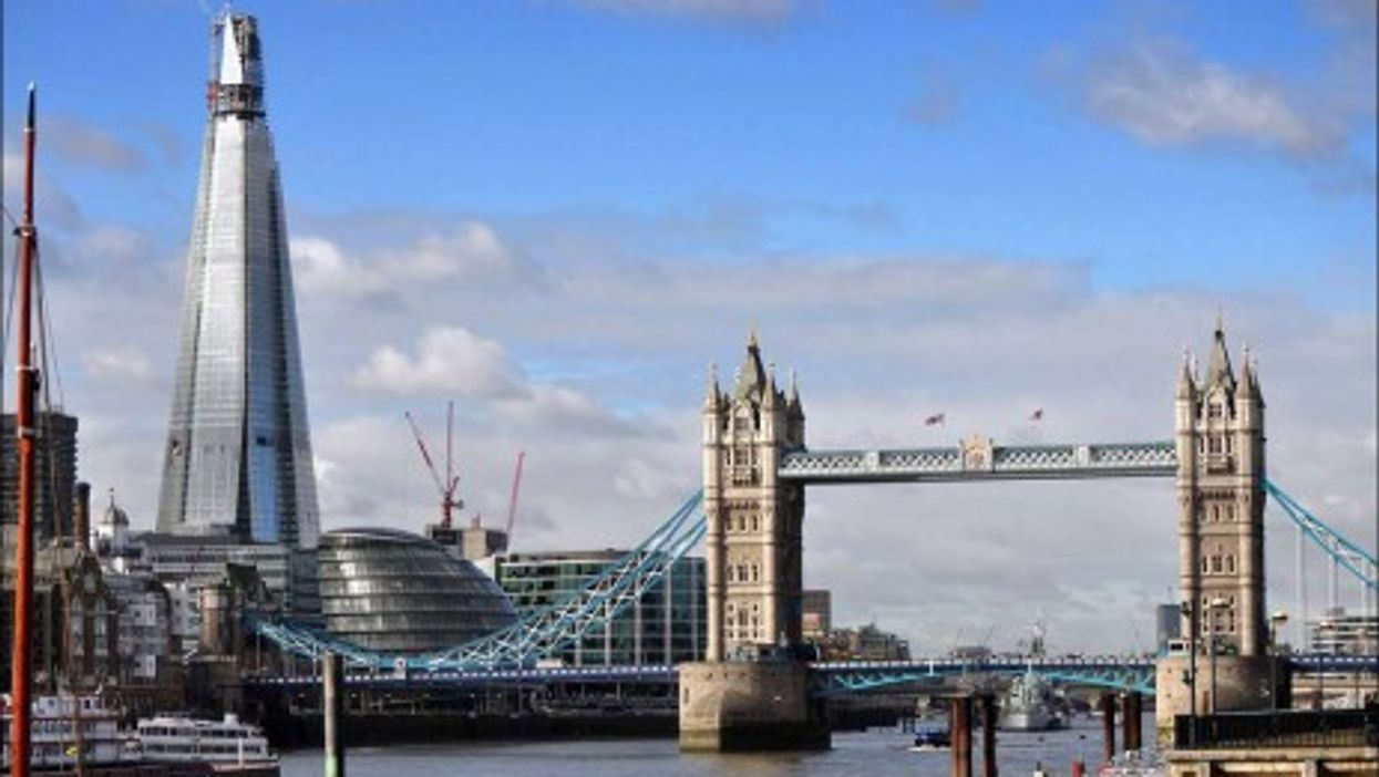 The new Shard building and the Tower Bridge in London (George Rex)