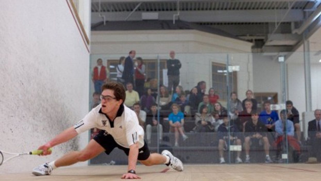 The nick: impossible to catch (The World Squash Federation)