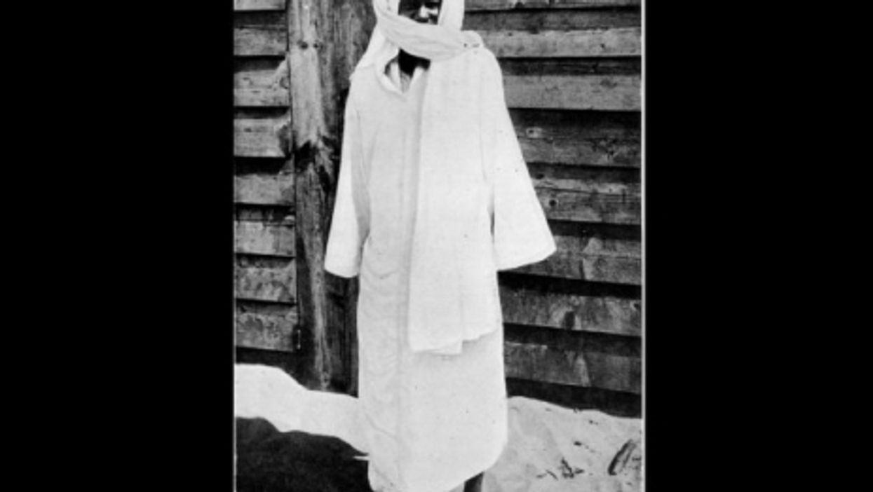 The only known remaining photograph of Ahmadu Bamba
