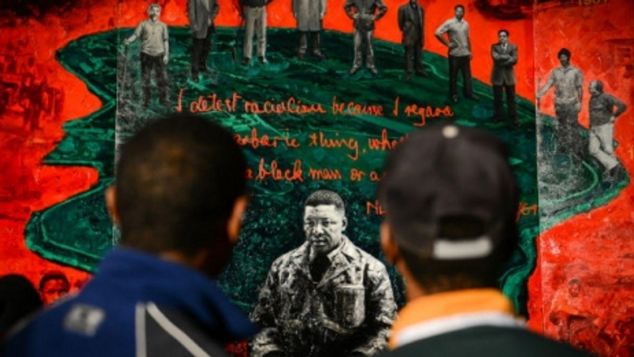 The painting ''Mandela'' by Chinese artist Li Bin in Johannesburg