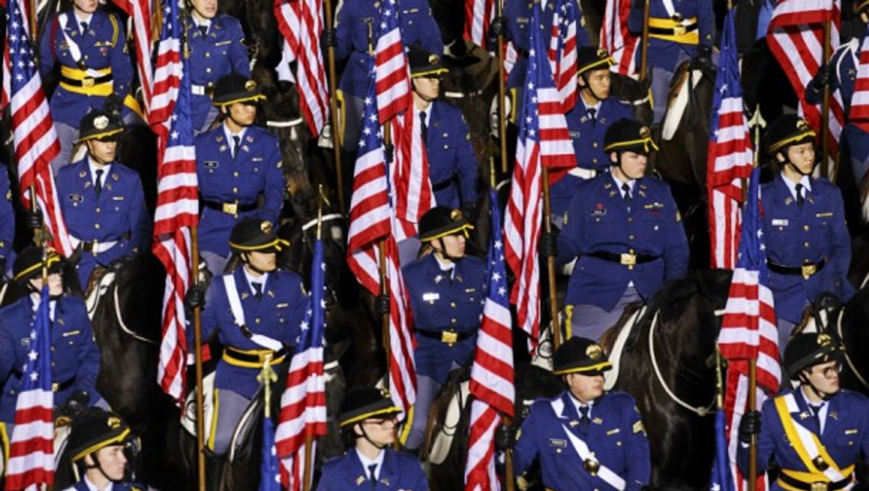 The parade at Donald Trump's inauguration on Jan. 20