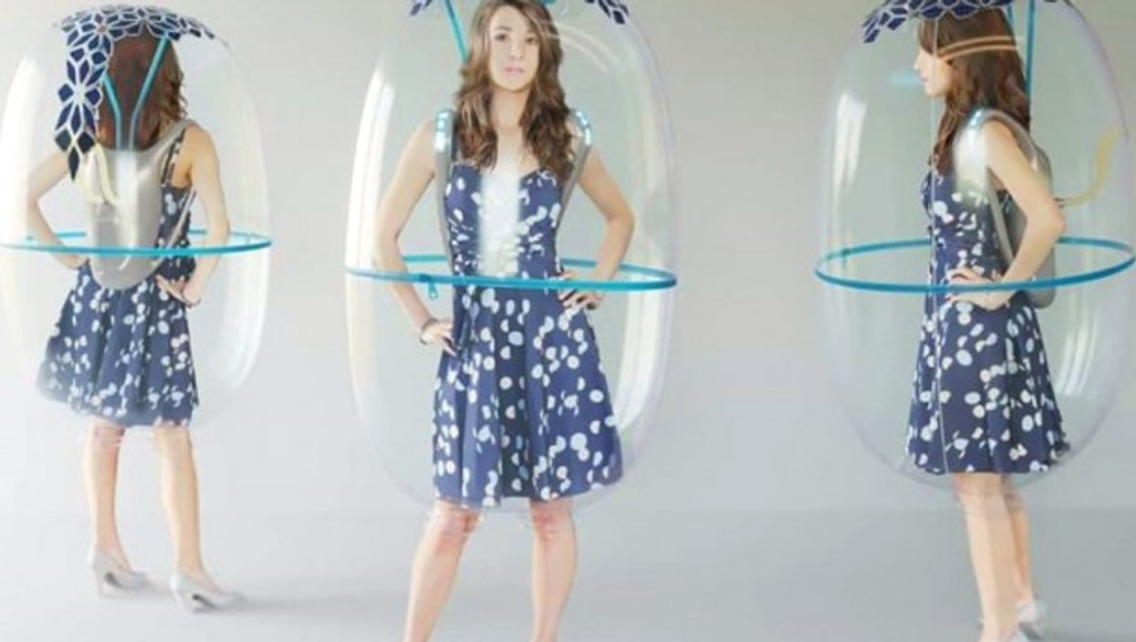 The personal inflatable bubble