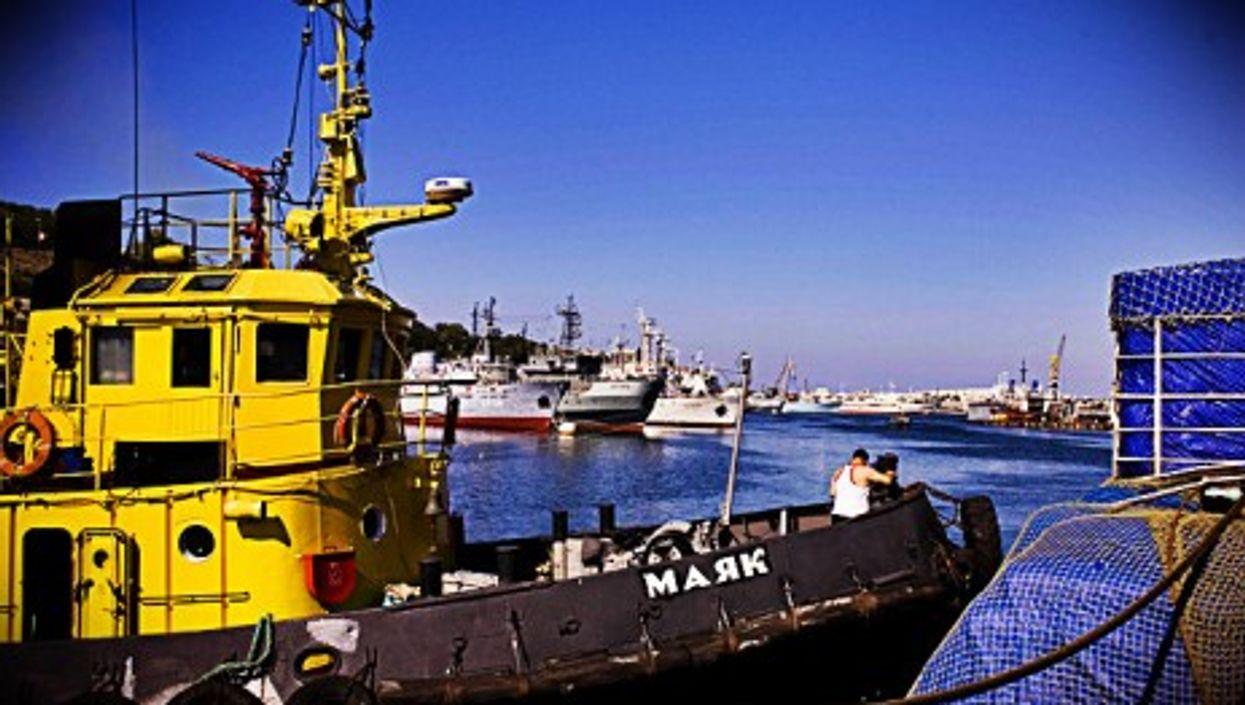 The port of Sevastopol is the hub of the Crimean economy