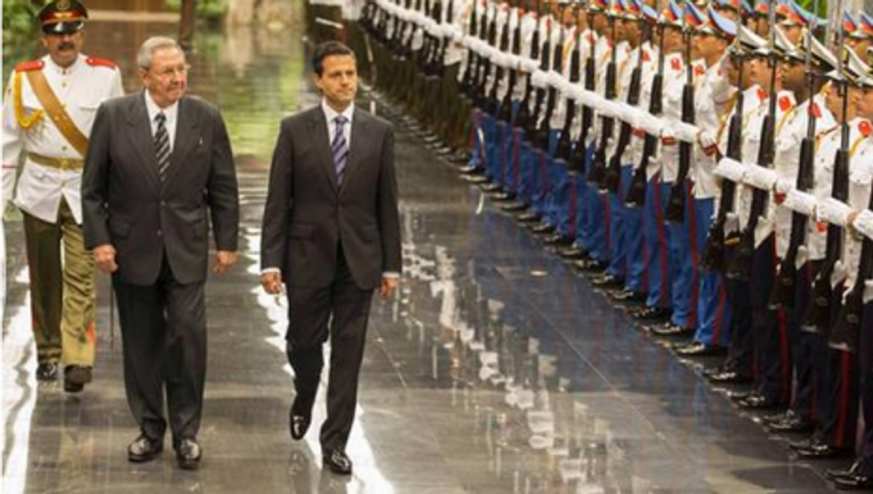 The presidents of Cuba and Mexico on Pena Nieto's recent visit to Havana