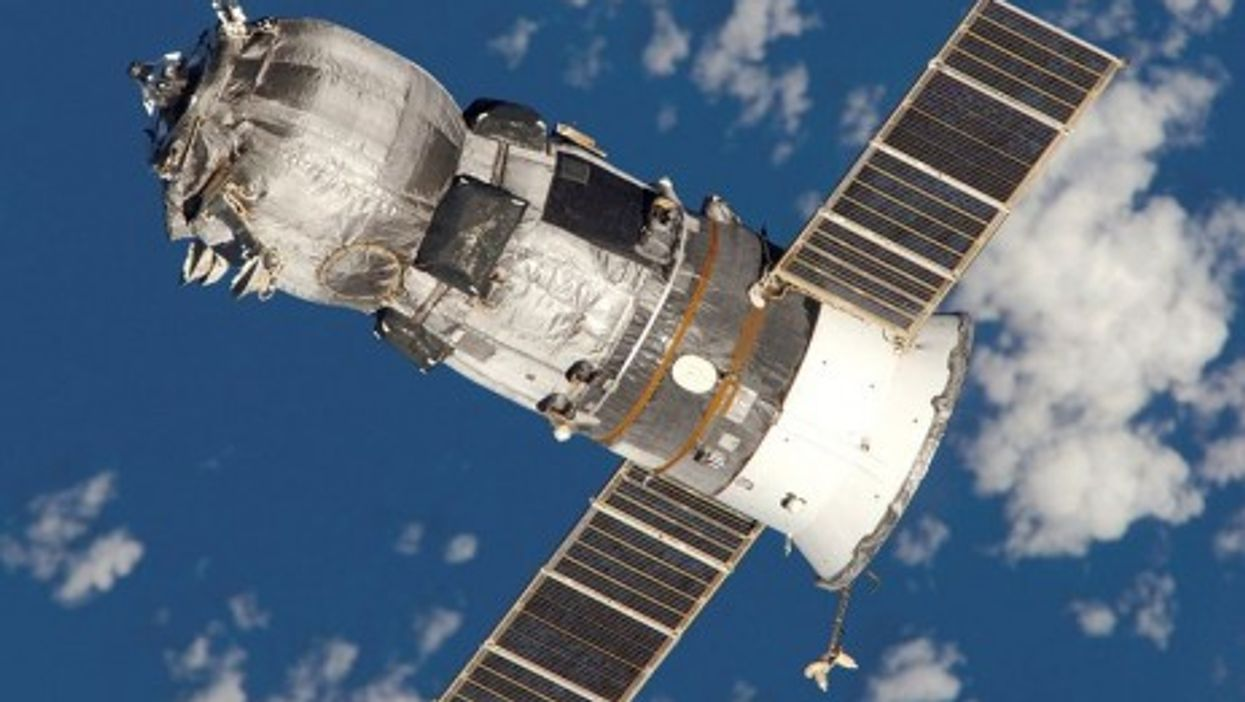 The Progress spacecraft that tumbled from the Soyuz U rocket