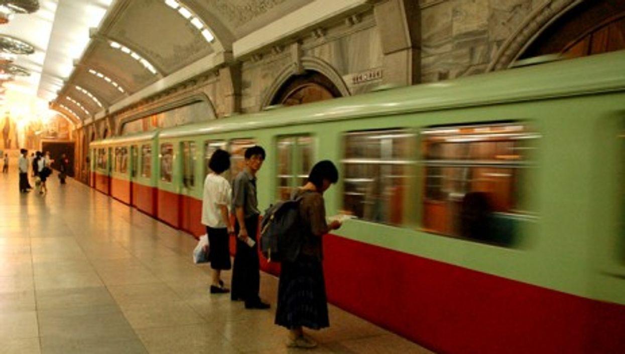 The Pyongyang metro